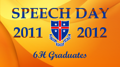 Speech Day 2011-2012 - 6H