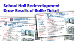 School Hall Redevelopment Raffle Ticket Result 2013