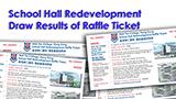 School Hall Redevelopment Raffle Ticket Result 2013