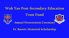 Wah Yan Post-Secondary Education Trust Fund 2013-2014