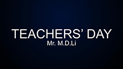 Teachers' Day 2014-2015 - Mr. M.D. Li