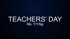 Teachers' Day 2014-2015 - Ms Y.Y. Ng