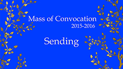 Mass of Convocation 2015-2016 (Sending)