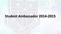 Student Ambassador 2014-2015