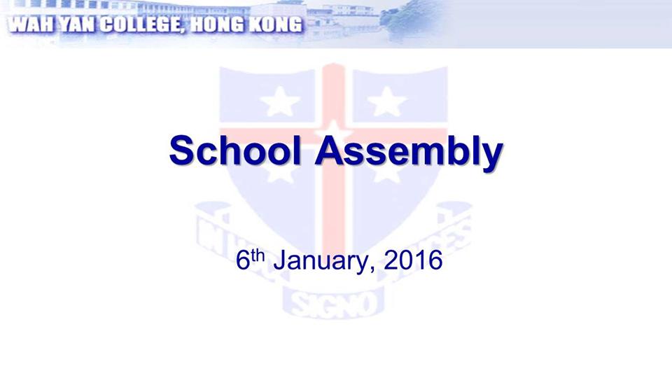 Assembly - January 2016