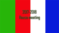 2017-2018 House Meeting