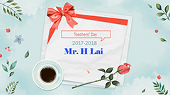 Teachers' Day 2017-2018 - Mr. Lai Hung