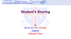 Student's Sharing -Volleyball Team 2018-2019