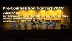 Pre Competition Concert 2019 - Junior Choir