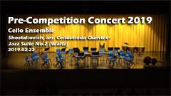 Pre Competition Concert 2019 - Cello Ensemble