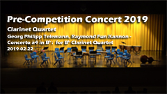 Pre Competition Concert 2019 - Clarinet Quartet
