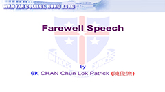 F.6 Student Farewell Speech 2019 - 6K