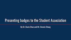 Presenting badges to the Student Association 2019-2020