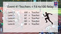 2019 A-meet Teachers + F.6 4x100 Relay