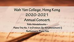Annual Concert 2020-2021 - Piano Trio