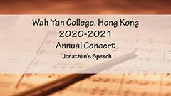 Annual Concert 2020-2021 - Jonathan's Speech