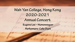 Annual Concert 2020-2021 - Cello Duet